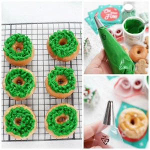 Christmas Wreath Donuts Recipe