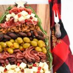 Fancy Meats and Cheese Christmas Tree Snack Board