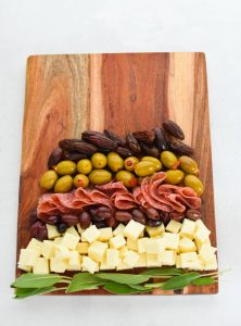 Make a Cheese Board Christmas Tree steps