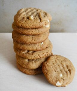 Peanut-Butter-Cookies-with-White-Chocolate-Chips