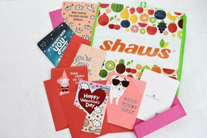 American Greetings Cards with reusable Shaw's bag.