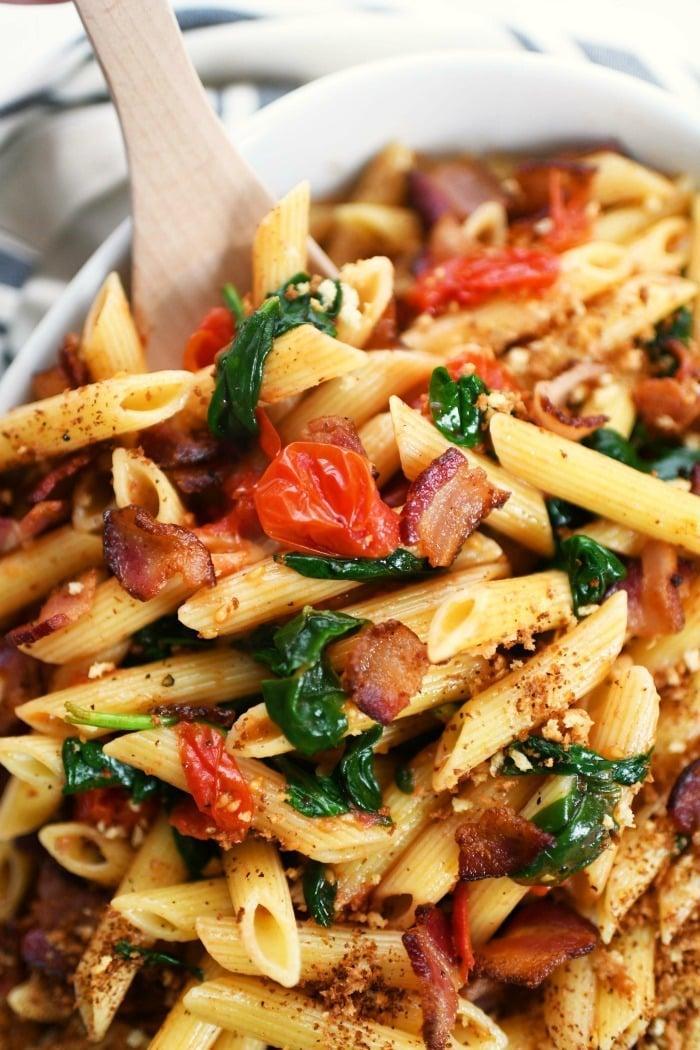 BLT pasta recipe idea