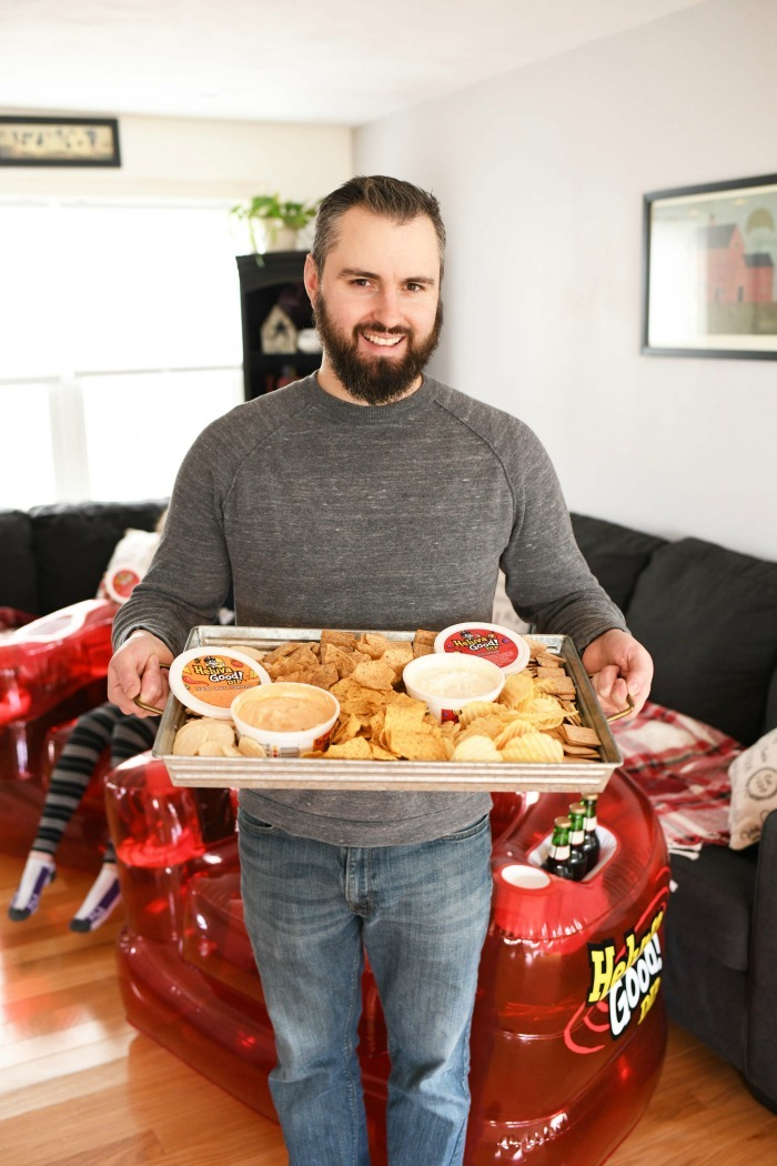 Chips and dip game tray