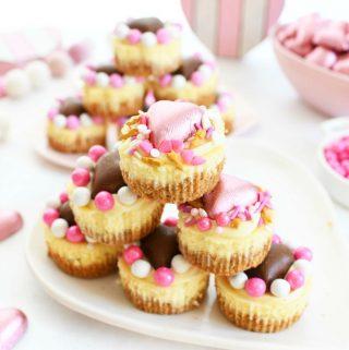Valentine's Day White Chocolate Ganache Cheesecake