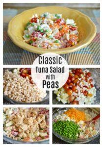 Classic tuna salad with peas