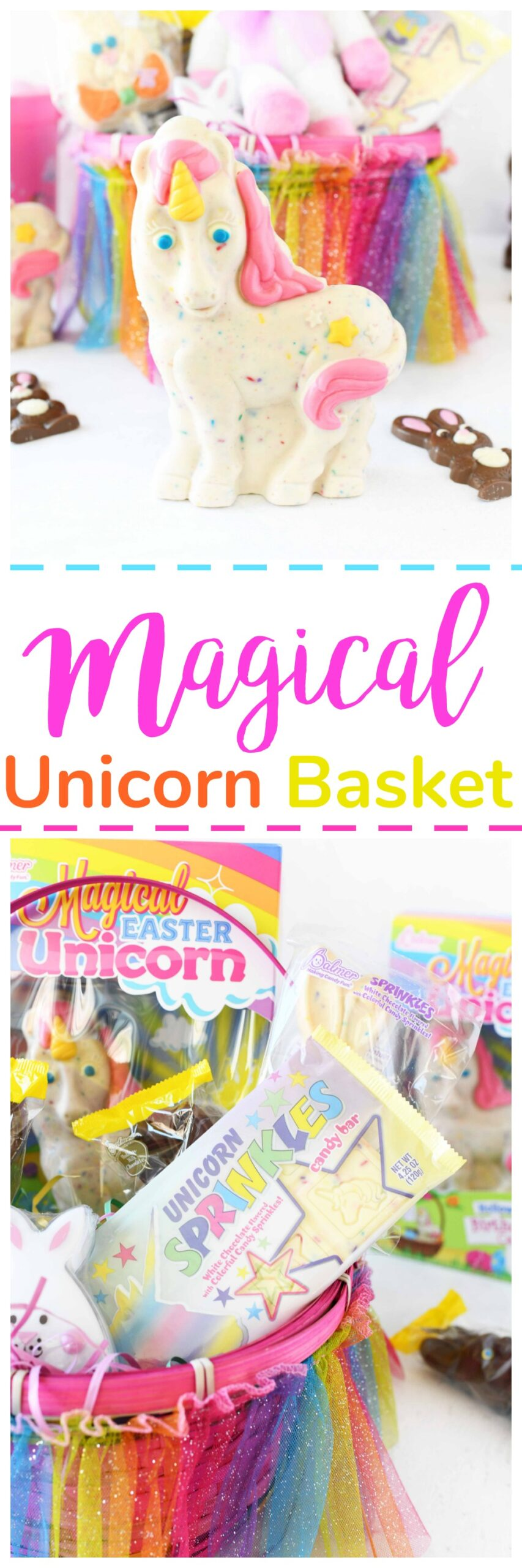 Unicorn Easter Basket Idea (Inexpensive and Easy)