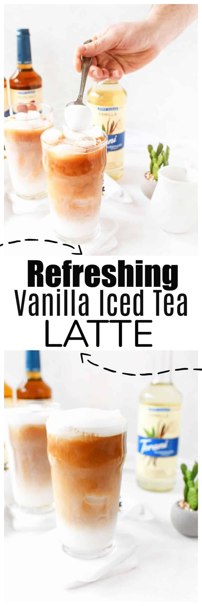 Vanilla Iced Tea Latte Recipe