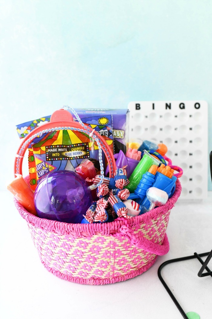 Bingo prize basket