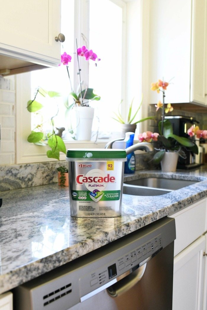 Cascade Platinum on counter.