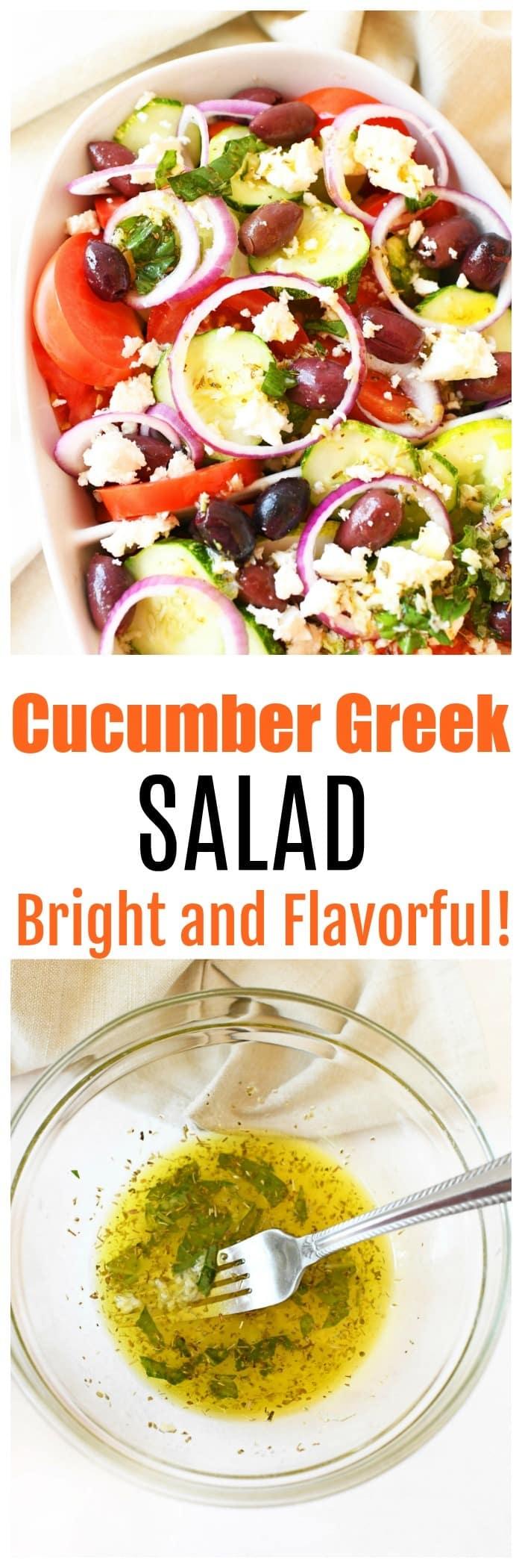 Fresh Greek Cucumber Salad (Bright and Flavorful!)