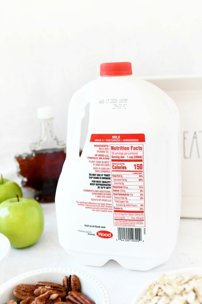 Hood milk gallon back label.