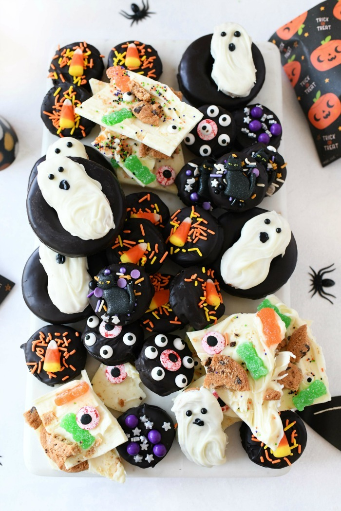 Halloween cookies on a platter