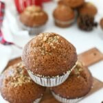 Gingerbread Bakery Muffins on a mini cutting board.