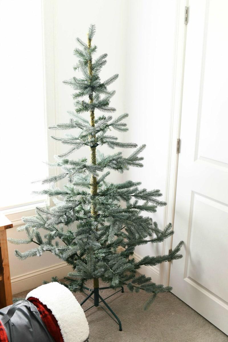 Wispy Christmas Tree in a bedoroom.
