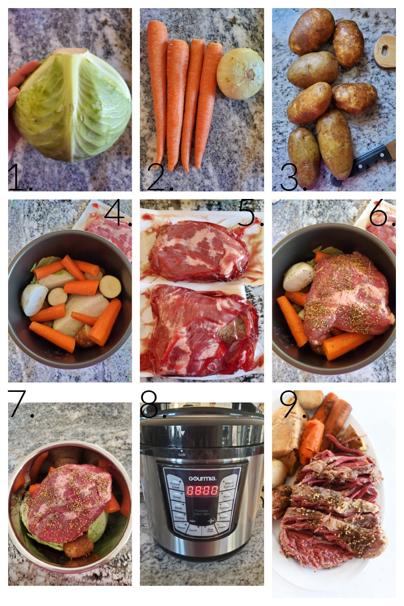 How to make corned beef. A visual grid on how to make this corned beef dish from start to finish.