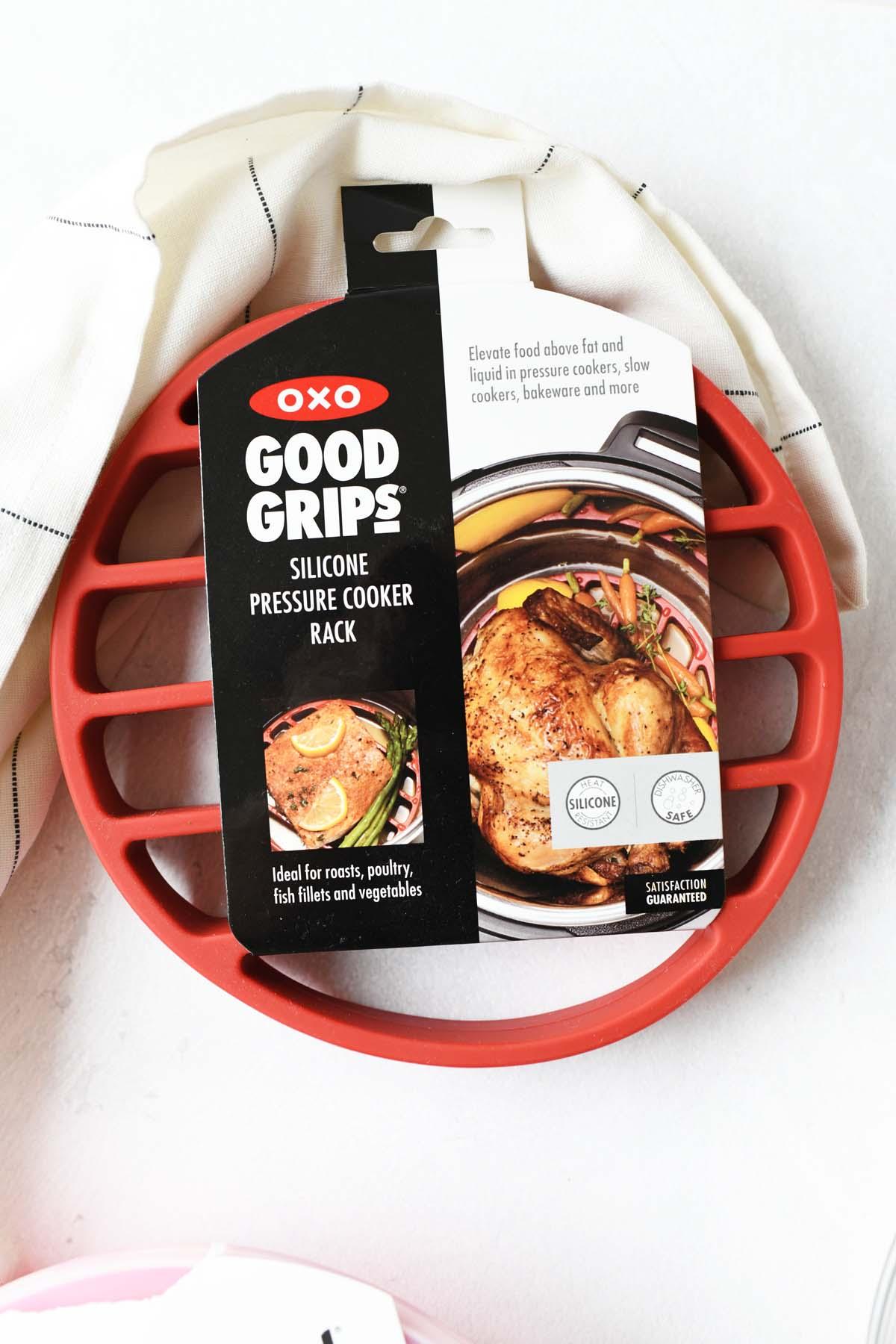 Oxo good grips red trivet.