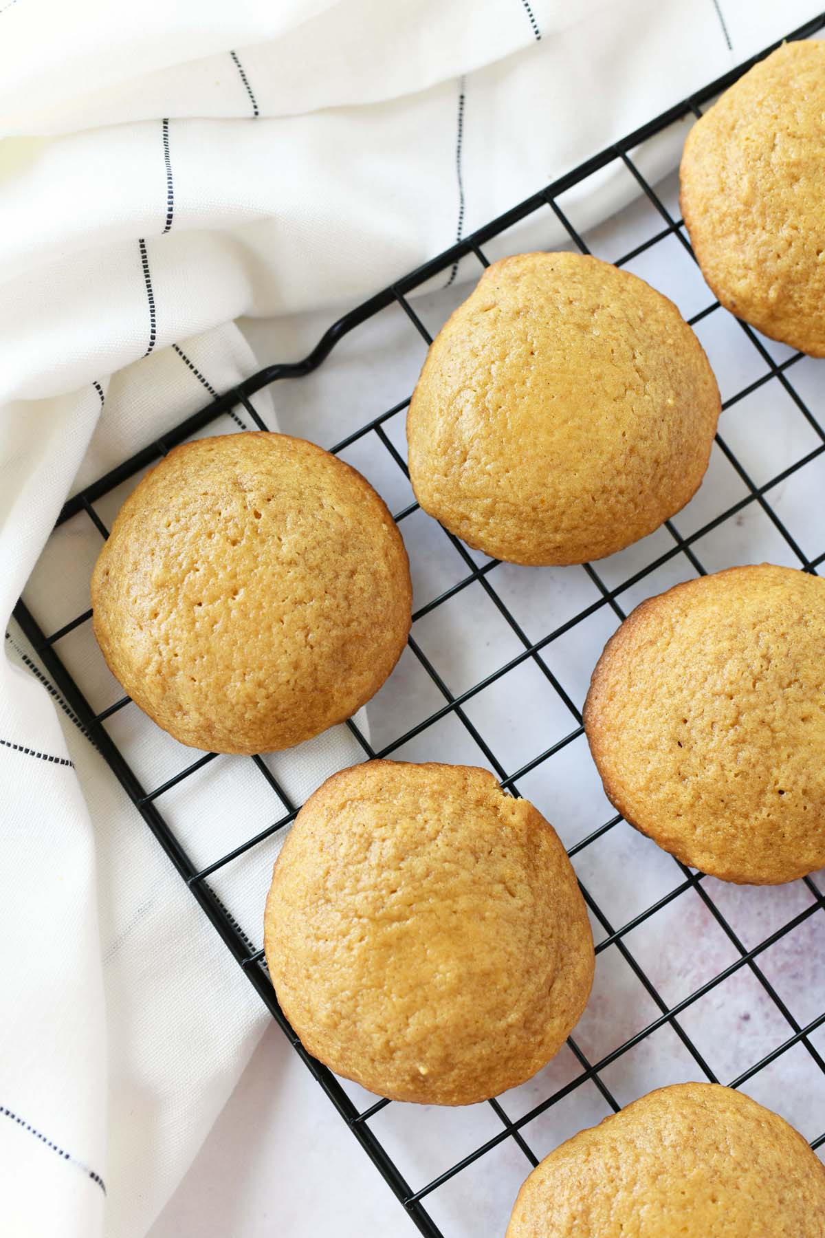 Baked Pumpkin cookies on a wire rack.